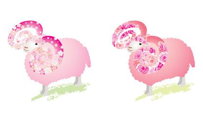 羊 / 花