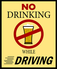 no drinking and driving sign