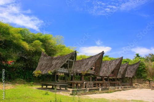Foto op Plexiglas Indonesië Traditional Batak houses on Samosir island, Sumatra, Indonesia