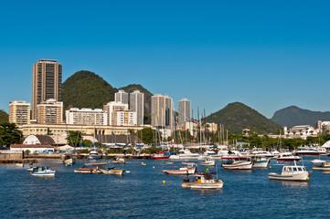 Rio de Janeiro Urban View with Mountains and Buildings