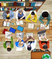 Multiethnic Group of People Brainstorming