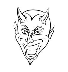 Devil Head Warrior vector illustration