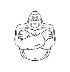 Gorilla Warrior vector illustration