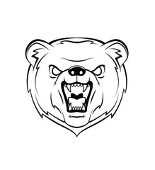 Bear Head Warrior vector illustration
