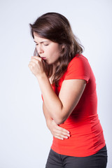 Woman and cough
