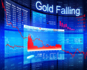 Gold stock price falling