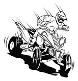 Fototapety ATV moto rider