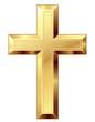 Gold cross - 71977554