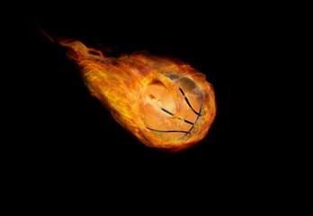 Basketball Ball on Fire
