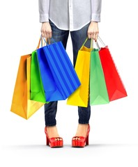 Women Holding Shopping Bags