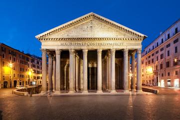 Phanteon at night, Rome, Italy.