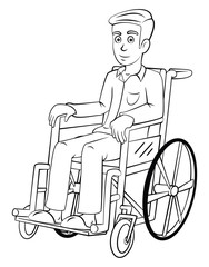 Man With Wheelchair