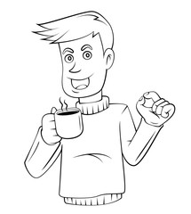 Coffee Business Man