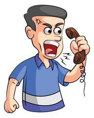 Man Angry on phone