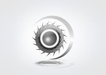 Abstrc Logo Machine Circle Busines Turning icon Symbol