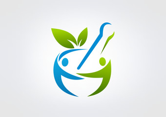 Logo Parmacy busines Healty icon Medicin