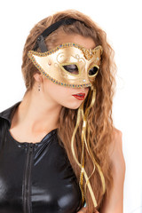 Photo of a young woman wearing mask
