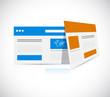 web templates browser illustration design