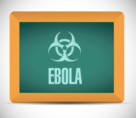 ebola sign on a board illustration
