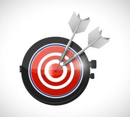 watch target illustration design