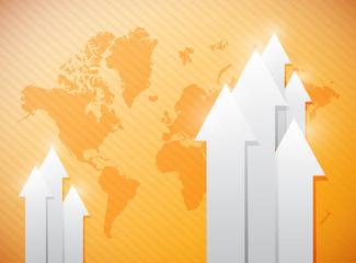 world map business illustration design