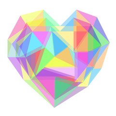 Abstract heart geometrical background. vector