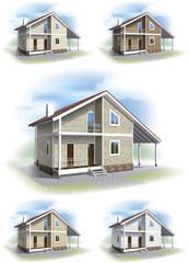 House with siding trim.