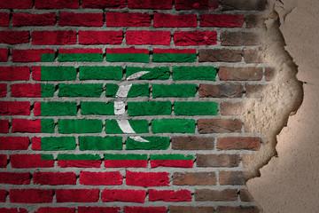 Dark brick wall with plaster - Maldives