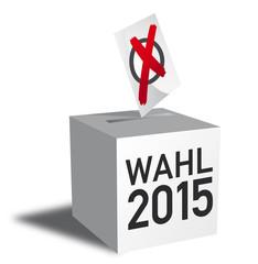 Wählen 2015, Wahlurne