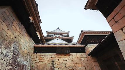 Ancient Japanese castle entrance