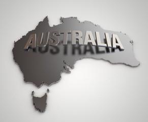 Metal Australia Map
