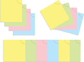 set of color vector papers