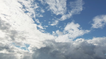 summer cloudscape timelapse footage,  1080 video