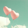 Two pink heart-shaped balloons - 71982528