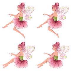 Pink Floral Fairy