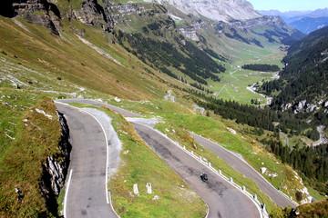 Serpentine in the Swiss Alps, Switzerland