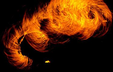 Orange Flames Flaming Trails
