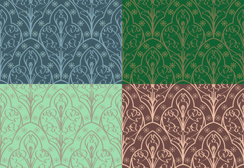 Seamless Elven Pattern
