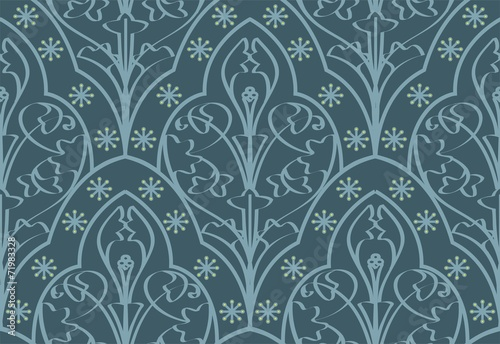 Seamless Elven Pattern - 71983328