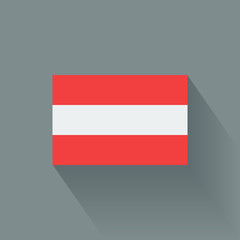Isolated national flag of Austria. Flat design.