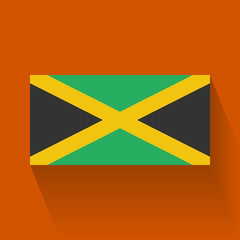Isolated national flag of Jamaica. Flat design.