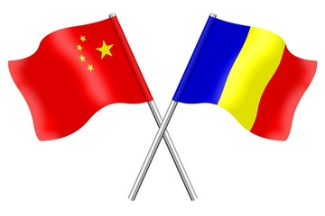 Flags: China and Romania