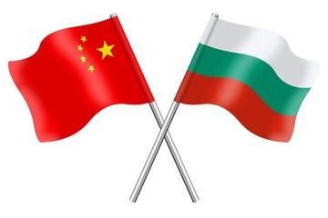 Flags: China and Bulgaria