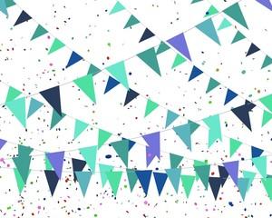 blauwe vlaggetjes kriskras