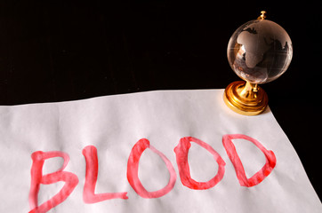 Word Blood Text