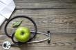 Alternative medicine stethoscope and green symbol background - 71986123