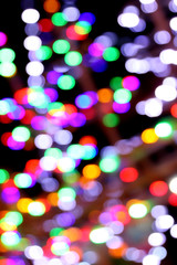 Multicolored lights bokeh background.