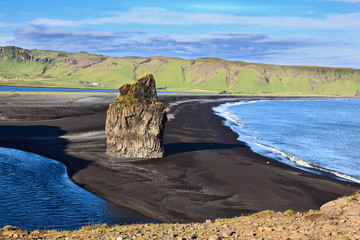 Cape Dirholaey in southern Iceland