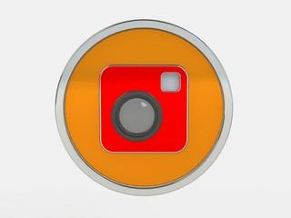 Color photo camera icon