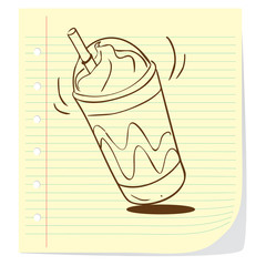 Coffee Frappe Doodle
